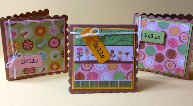 Hello Mini Cards by Joy Ott