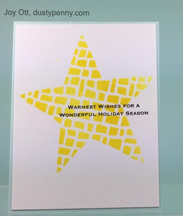 Star Card by Joy Ott
